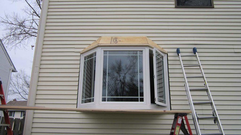 Bay Window Installation in Williamstown, NJ - Almost Done